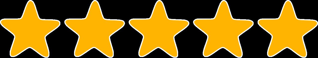 avaliação de 5 estrelas
